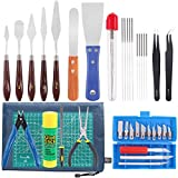Rustark 40 Piece 3D Printer Accessories Tool Kit, Spatulas,Tweezers,File, Needles,Cutting ...