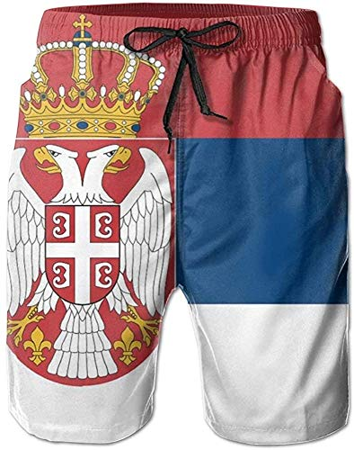 Belongtu Serbia Flag Short of Swimwear for Mens Beach Pants Beach Shorts Quick Dry Herren Strandshorts Strandhose Hot Pants