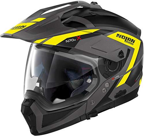 Nolan N70-2 X, Motorradhelm, Grandes Alpes, Flat Lava Gray, dunkelgrau, M N7X0004330232