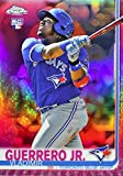 2019 Topps Chrome - Vladimir Guerrero JR - PINK REFRACTOR PARALLEL - Toronto Blue Jays Baseball Rookie Card RC #201. rookie card picture