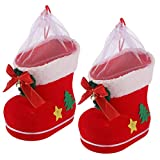 STOBOK 2 Piezas de Moda Creativa Bolsa Media de Navidad Calcetines de Caramelo Calcetines Colgantes para decoración de Navidad Fiesta de niños