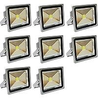 WEIMALL LED投光器 LEDワークライト 30W 電球色 (約3000K) 防水 8個セット