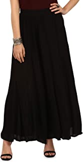 ATEESA By FBB Solid Mid Rise Skirt
