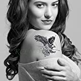 tzxdbh 5Pcs-Etiqueta engomada del Tatuaje a Prueba de Agua Animal Cat Fox Muñeca Pie Brazo Cuello Tatuaje Falso Hombres y Mujeres 5Pcs-