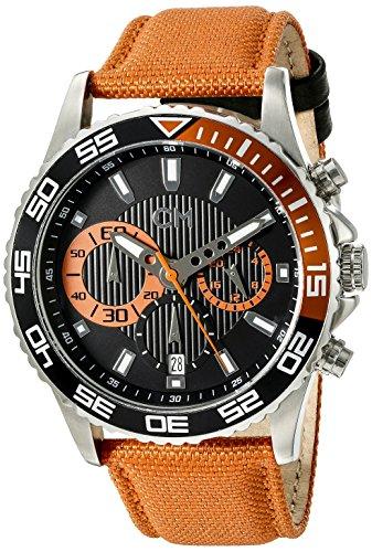 Carlo Monti CM509-124A - Orologio da polso uomo, tessuto, colore: arancio