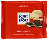 Ritter Sport Marzipan Chocolate Bar 100 g (Pack of 5)...
