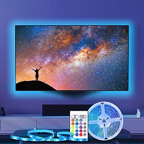 Striscia luminosa a LED con cavo USB 5V e telecomando wireless a 24 tasti per la decorazione dell armadio TV della cucina di casa