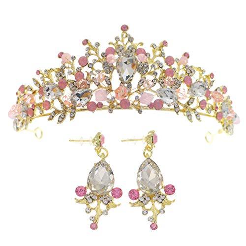 VALICLUD Conjunto de Pendientes de Corona Barroca Corona de Diamantes de Imitación