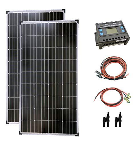 solartronics Komplettset 2x130 Watt Solarmodul Laderegler Photovoltaik Inselanlage