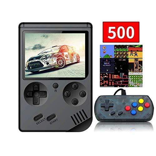Anbernic Console di Gioco Portatile, Console di Gioco Retro FC, Console di Videogioco con Giochi Classici da 3 Pollici 8 Bit 500 (Nero)