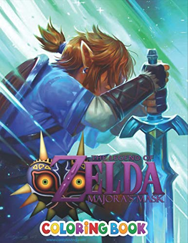 The Legend Of Zelda Coloring Book: Impressive The Legend Of Zelda Colouring Books For Adults And Kids, +50 The Legend Of Zelda colouring pages 2021 ... - Characters , Weapons & Other | High Quality