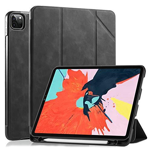 GHC PAD Fundas y fundas para iPad Pro de 11 pulgadas 2020, a prueba de golpes, funda inteligente para iPad Pro de 2ª generación A2228 A2068 (color: negro)