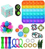 Fidget Toys Set, Fidget Toy Pack for Adults and Kids, Sensory Toys, Push pop Bubble, Figetget Toys Pack for Stress and...
