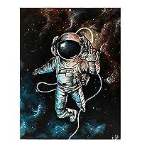 Suuyar 宇宙飛行士ウォールアートキャンバス絵画漫画のポスターとプリントリビングルームの家の装飾のためのウォールアートの写真-70X90Cmフレームなし