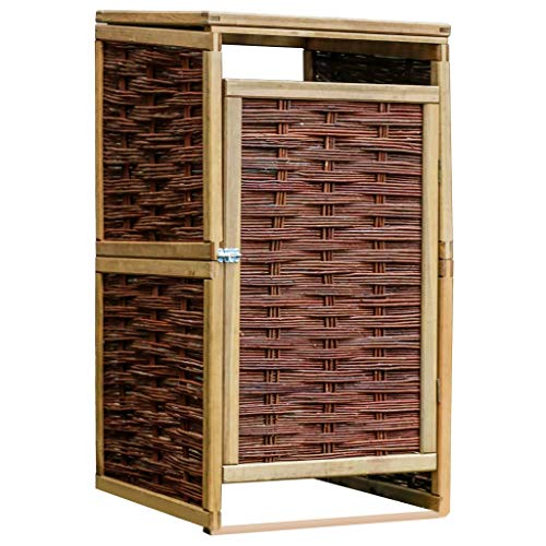*vidaXL Kiefer Mülltonnenbox für 1 Tonne Weide Mülltonnenverkleidung Müllbox*