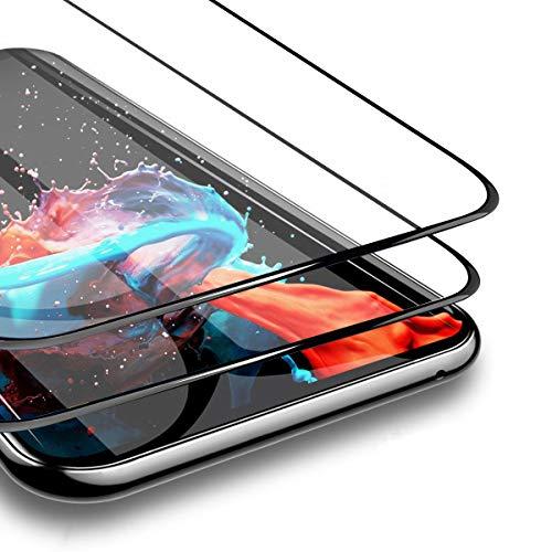 BESTCASESKIN [2-Pezzi Samsung Galaxy S6 Edge Pellicole Protettive HD Vetro Temperato Screen Protector [3D Full Coverage] 9H Durezza, Anti-Impronte Digitali, Senza Bolle, Alta Definizione, Nero
