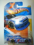 2011 Hot Wheels NASCAR DANICA PATRICK 2010 CHEVY IMPALA HW PREMIERE 37 of 50, #37 blue white flames with hot wheels logo and racing number 7
