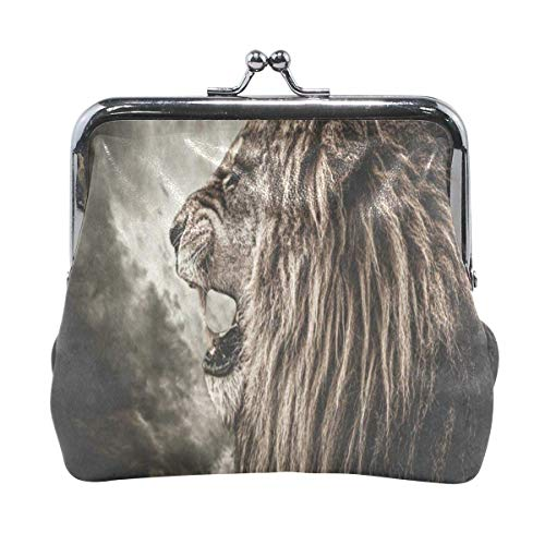 Damen Geldbörse Geldbörse Lion Stormy Sky Damen Geldbörse Clutch Bag Girls Kleine Geldbörse