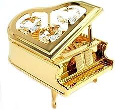 Grand Piano 24k Gold Swarovski Crystal Ornament Figure