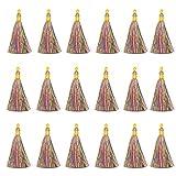 Sweieoni Borlas 30 Piezas Borlas de Flecos Mini Borlas Marcadores de Libros Borlas Colgante Borlas para Clave Cadena DIY Accesorios Artesanía DIY Accesorio 8 cm