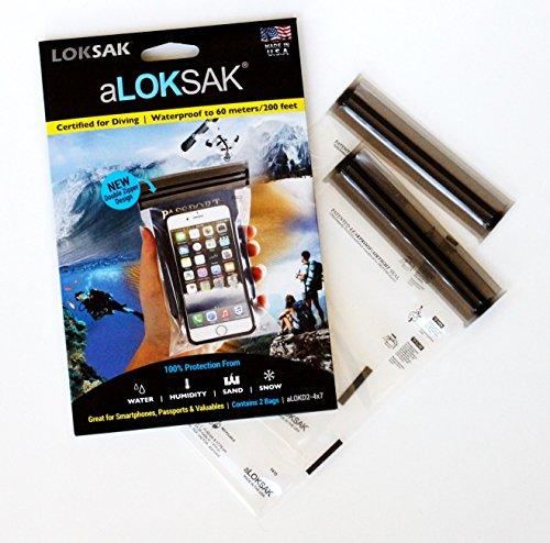 Loksak aLOKSAK Unisex wasserdichte Tasche, schwarz/transparent, 4,63 x 7,81