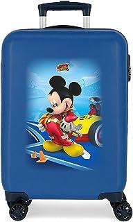 Disney Lets Roll Mickey Valise de cabine bleue 34 x 55 x 20 cm rigide ABS fermeture à combinaison latérale 37,4 L 2,36 kg ...