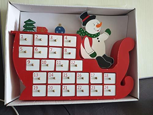 Calendario dell'avento in Legno con cassetti