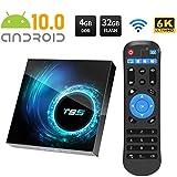Android 10.0 TV Box Smart Media Box 4GB RAM 32GB/64GB ROM, WiFi 2.4G & Ethernet 2USB Set Top Box Support 6K 3D Ultra HD Internet Video Player,B4+64G