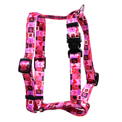 Yellow Dog Design Valentines Blocks Roman Style H Dog Harness-Small/Medium-3/4 and fits Chest 14 to 20
