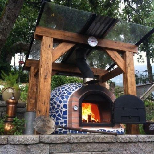 Garden Secrets Mediterrani azul mosaico – Horno de leña para ...