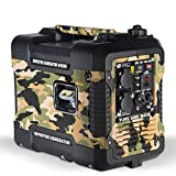 Böhmer-AG Camo Petrol Inverter Generator W4500i, 1.9 KW, Ultra Low Noise - UK Plugs