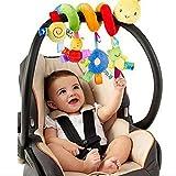 1pc Mobile de lit bébé Ornement en peluche animal suspendu Hochet en spirale Berceau suspendu pour...