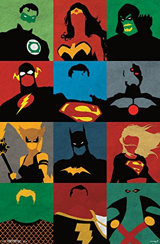 "Trends International Justice League Minimalist Wall Poster 22.375"" x 34"""