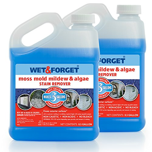 Product Image of the Wet and Forget Moss, Mold, Mildew & Algae Stain Remover.5 Gallon Concentrate Makes 3 Gallons - 2 Pack