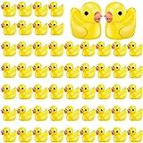 200 Piezas Mini Patos Minúsculos de Resina Adorno de Pato Amarillo Impermeable en Miniatura Figuras de Patos de Casa de Muñecas para Artesanía Adorno DIY Navidad Fiesta de Cumpleaños