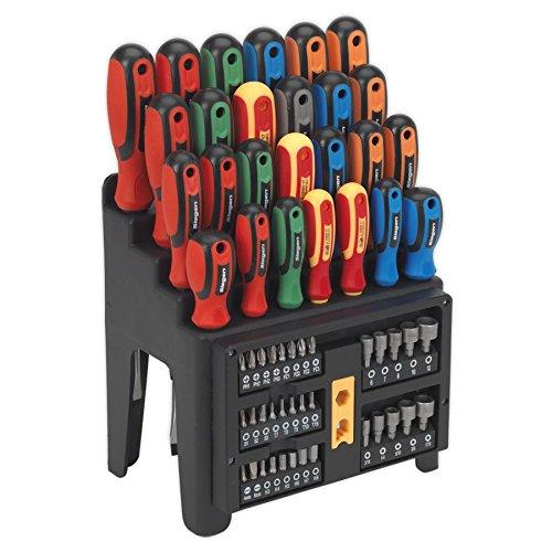 Siegen s01152destornillador, puntas y tuerca conductor Set 61pc, rojo