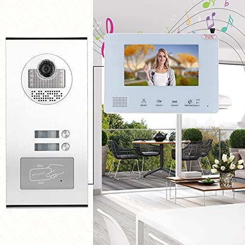 Intercomunicador de puerta de doble vía, timbre RFID de operación simple Aleación de aluminio flexible y duradera con fuente de alimentación integrada para sistemas de seguridad en el hogar