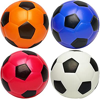 """Kiddie Play Set of 4 Soft Balls for Toddlers 4"""" Soccer Ball for Kids"""