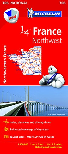 Mapa National France Northwest (Mapas National Michelin)