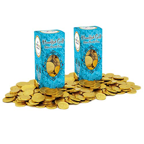 Hanukkah Chocolate Gelt - Nut-Free - Belgian Milk Chocolate Coins - 1LB - OU D Kosher Chanukah Gelt (2-Pack, 2 Lbs Total)