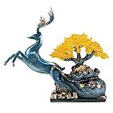 Feng Shui Money Treei Cristallo Albero Blu fortunato Cervo Money Tree sano Prosperità Spirito regalo Energy Feng Shui casa Tavolo da pranzo Decorazione 12,9 pollici (quattro colori) per l'ufficio a ca