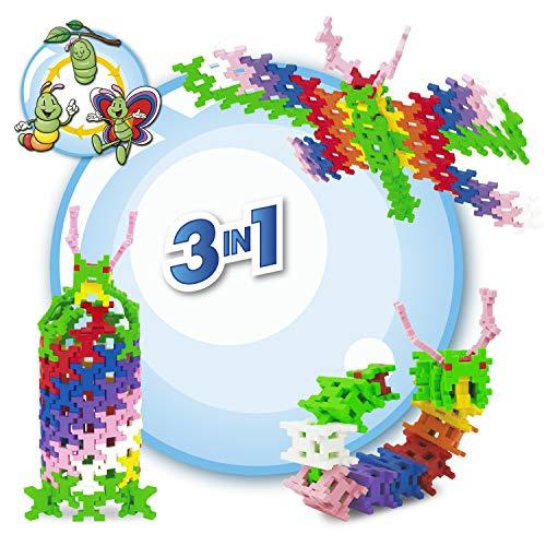 Incastro- Bruce Costruzioni, Unico Mattoncino, Gioco Educativo per Bambini 6, 7, 8, 9, 10, 11, 12 Anni, Multicolore, Puzzle 3D, Ispirato al Metodo Montessori, IC-09