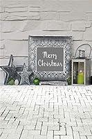 Qinunipoto クリスマス 写真 背景布 撮影用 背景 冬 写真撮影用小道具 背景シート メリークリスマス 写真館 撮影スタジオ用 自宅用 撮影用クリスマス背景布パーティー クリスマス用背景 ビニール製 2.5x3.5m