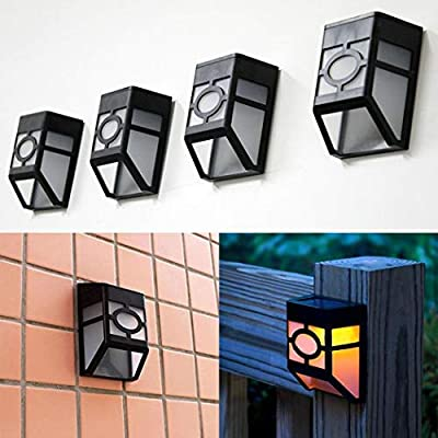 zhuygba Solar Powered Wall Mount LED Light Outdoor Solar Wall Light Wall Lamps & Sconces