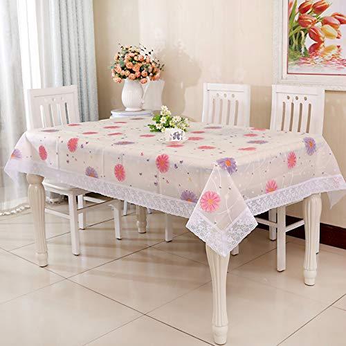 YOUYUANF Tischdeckengarten kann gewaschen Werden Wachstuch Tischdecke, waschbare Gartentischdecke, Wachstischdecke, PVC Kunststofftischdecke, wasserdicht und abwischbarRosa150x200 cm