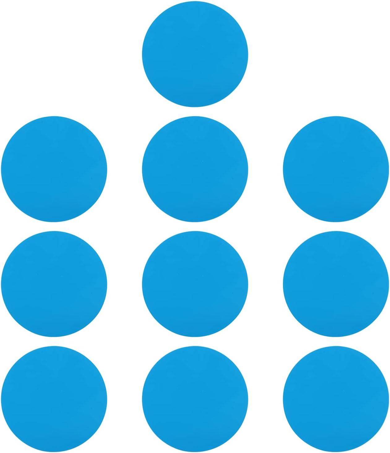 YARNOW 10 Piezas de PVC Autoadhesivo Parche de Reparación de Vinilo para Piscina Kit de Reparación de Parches de Plástico para Piscinas Inflables Productos de Barcos Balsa Kayak Canoa