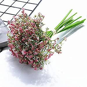 Silk Flower Arrangements Yqs Artificial Flowers Baby's Breath Artificial Flowers Hand-Made DIY for Wedding Bouquets for Home Decoration Decoration Home (Color : Pink)