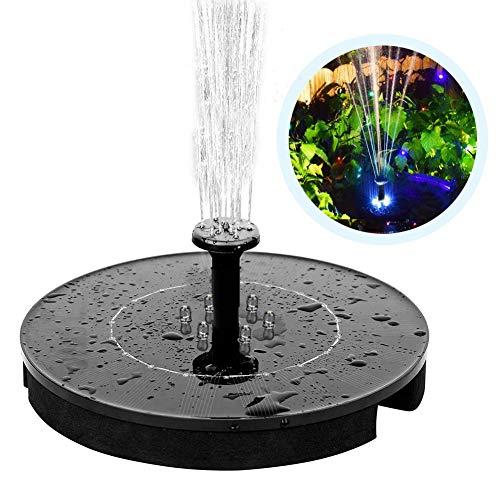 Scopri offerta per vitutech Fontana a Energia Solare a 6 LED, 2.4 W, con Pannello Solare Monocristallino, Pompa dell'Acqua con 4 Ugelli Pompa A Energia Solare Esterna per Fontana Bagno, Stagno, Acquario