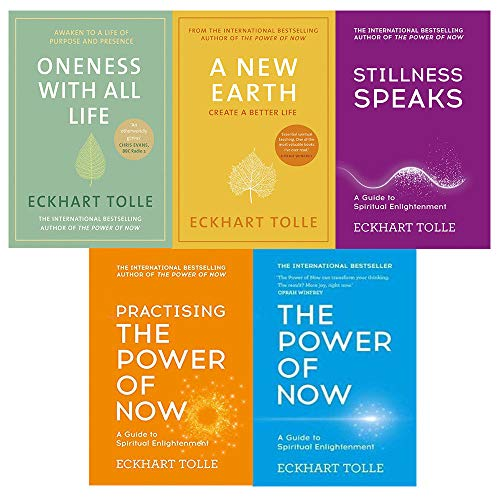 Price comparison product image Eckhart tolle the power of now collection 5 books set (the power of now,  practising the power of now,  stillness speaks,  a new earth,  oneness with all life [hardcover])