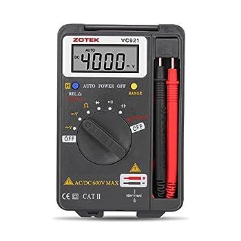 Digital Multimeter Auto Ranging Pocket Digital Multimeter Digital Multi Tester - AC DC Voltage DC Current Resistance Diodes Capacitance Transistor Measuring Instrument  VC921